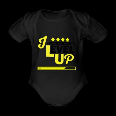 I Level Up Consoles and PC Gamer Birthday Shirt - Organic Short-sleeved Baby Bodysuit
