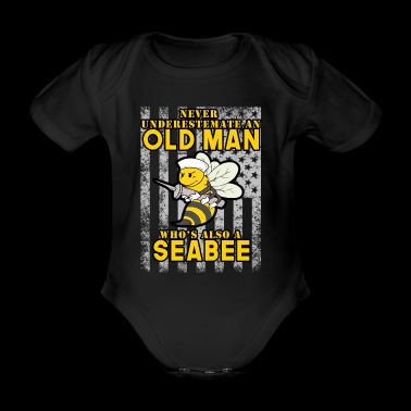 Old Man Sailor EE. UU. EE. UU. Bee Navy Seal Sea - Body orgánico de maga corta para bebé