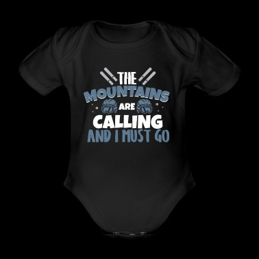 The Mountains are Calling T-Shirt - Organic Short-sleeved Baby Bodysuit