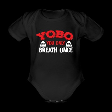 YOBO Swimming T-Shirt - Organic Short-sleeved Baby Bodysuit