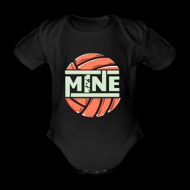 funny love mine volleyball - Organic Short-sleeved Baby Bodysuit