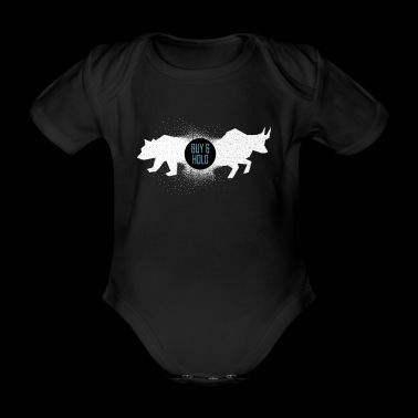 Buy and Hold Stock Market Stock Trading Stock - Organic Short-sleeved Baby Bodysuit