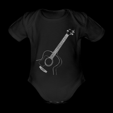 Acoustic Guitar Guitarist Music Gift - Organic Short-sleeved Baby Bodysuit