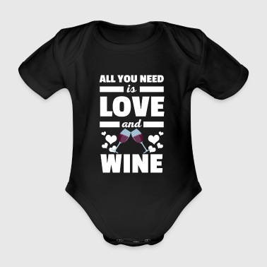 Cool All You Need è la maglietta Love and Wine - Body ecologico per neonato a manica corta