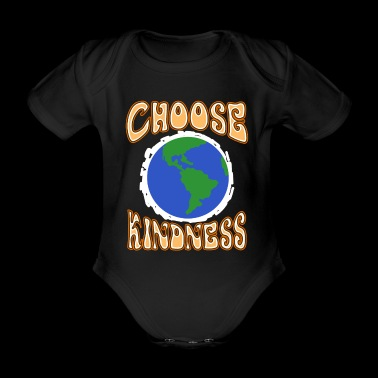 Choose Kindness Planet Earth Spread And Stop Bully - Organic Short-sleeved Baby Bodysuit
