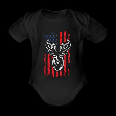 Hunting Deer - Organic Short-sleeved Baby Bodysuit
