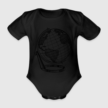 globe - Organic Short-sleeved Baby Bodysuit