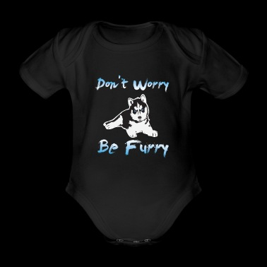 Furry Fandom Animal Foy Dog Gift - Organic Short-sleeved Baby Bodysuit