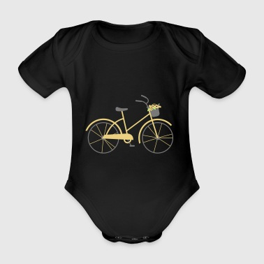 bicycle - Organic Short-sleeved Baby Bodysuit