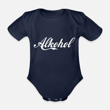 Alcoholic alcohol - Organic Short-Sleeved Baby Bodysuit