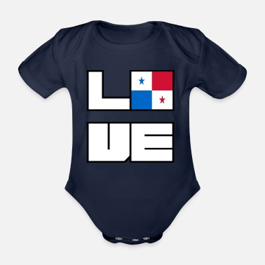 Love home roots Roots Panama - Organic Short-Sleeved Baby Bodysuit