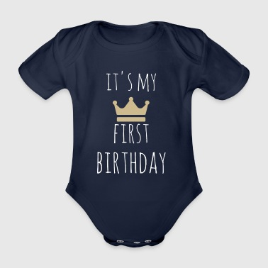 It's my first birthday - Økologisk kortermet baby-body