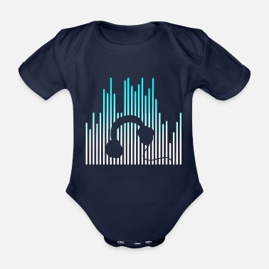Electro EQUALIZER and Headphones - Organic Short-sleeved Baby Bodysuit