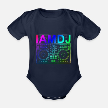 Rave I am DJ controller scratch party deejay music - Baby Bio-Kurzarm-Body