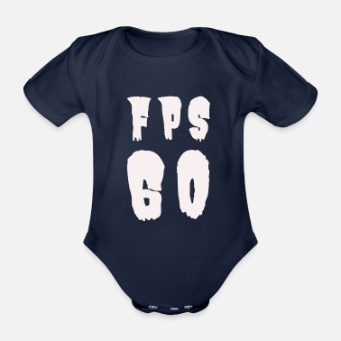 Fps FPS 60, Gaming - Organic Short-Sleeved Baby Bodysuit