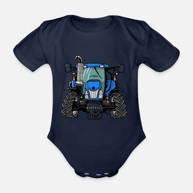 Holland 0646 NewHolland - Organic Short-Sleeved Baby Bodysuit