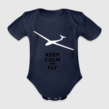 Keep calm and fly - Organic Short-sleeved Baby Bodysuit
