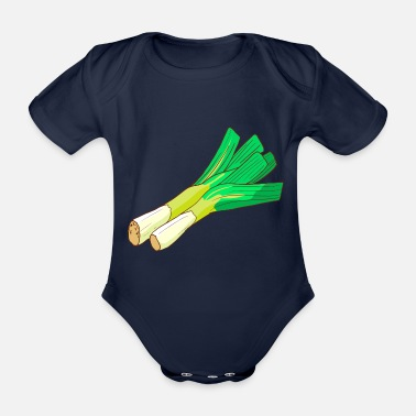 Common Tropical Fruits Leeks leeks broadleaf winterwort onion - Organic Short-Sleeved Baby Bodysuit
