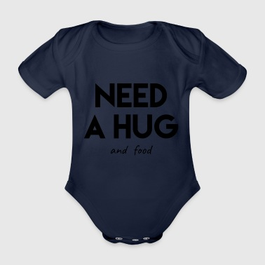 Funny t-shirt saying, food! - Organic Short-sleeved Baby Bodysuit