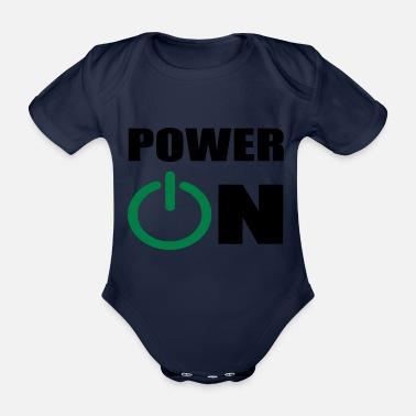 Power power on - Organic Short-Sleeved Baby Bodysuit