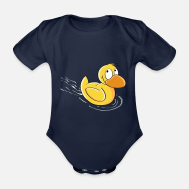 Bambini Sweet Swimming Duck - Comic - Body ecologico per neonato a manica corta