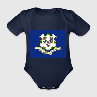 Connecticut Flagge - Baby Bio-Kurzarm-Body