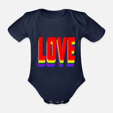 Lovely Love - Organic Short-sleeved Baby Bodysuit