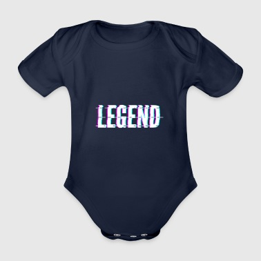 Legend / legend - Organic Short-sleeved Baby Bodysuit