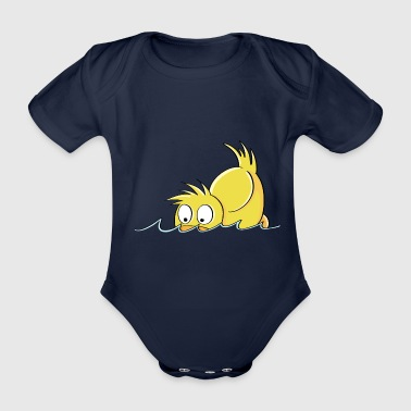 Duck Duck Duck - Duck comic - Organic Short-sleeved Baby Bodysuit