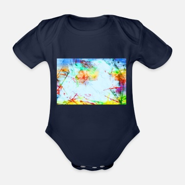 Colour Splash splashes - Organic Short-sleeved Baby Bodysuit