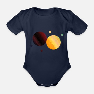 Planet planet - Organic Short-sleeved Baby Bodysuit