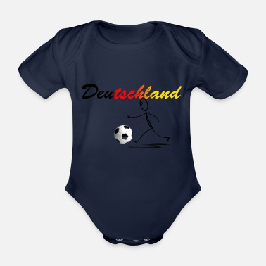 Kicker Kicker Germany - Organic Short-sleeved Baby Bodysuit