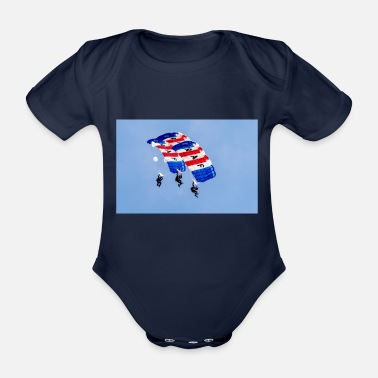 Royal Air Force Royal Air Force Falcons Parachute Display Team - Organic Short-sleeved Baby Bodysuit
