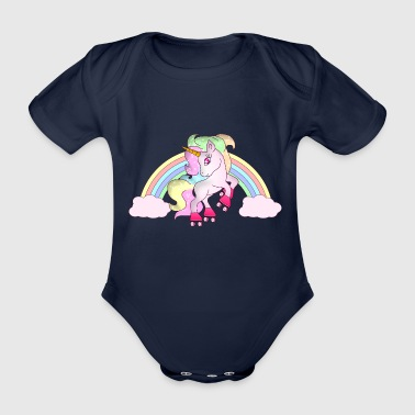 Patin à roulettes mignon Magic Rainbow Unicorn - Body bébé bio manches courtes