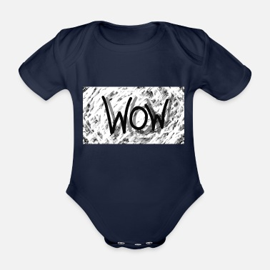 Spreadshirt Spreadshirt WOW - Organic Short-Sleeved Baby Bodysuit