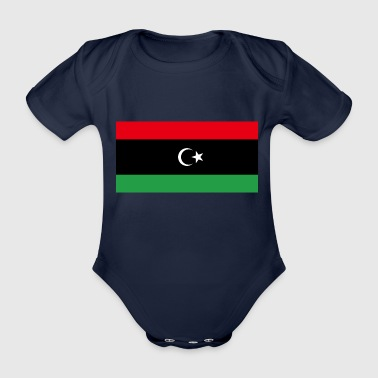 Libya FLagg - Organic Short-sleeved Baby Bodysuit