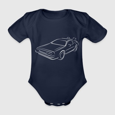 Sketch back to the future - Organic Short-sleeved Baby Bodysuit