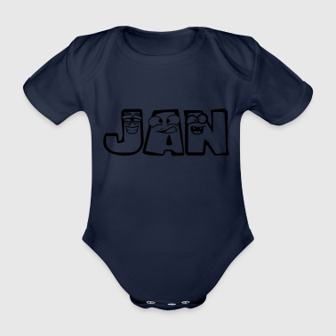 Jan first name Males child baby offspring pregnant - Organic Short-sleeved Baby Bodysuit