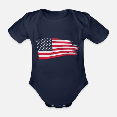 Bandera usa_flag_on_blue - Baby Bio Kurzarmbody