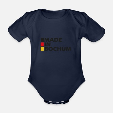 Made in Bochum ger - Organic Short-Sleeved Baby Bodysuit