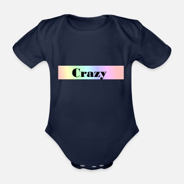 Date-rendez-vous Crazy - Organic Short-Sleeved Baby Bodysuit