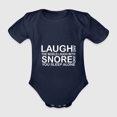 funny laught quotes - Baby bio-rompertje met korte mouwen