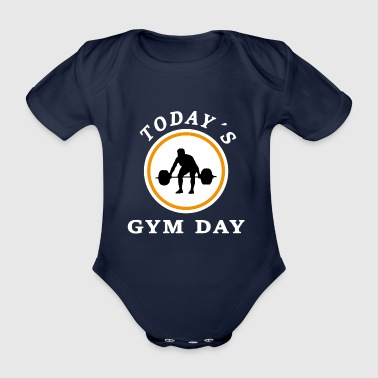 Today's gym day - Organic Short-sleeved Baby Bodysuit