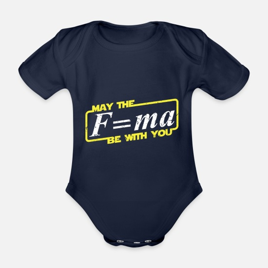 You Babykleidung - May the force be with you - Wissenschaft shirt - Baby Bio Kurzarmbody Dunkelnavy