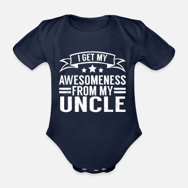 Gift Uncle Awesomeness Gift T-shirt - Baby Bio Kurzarmbody