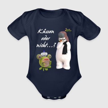 Kissing or not - Organic Short-sleeved Baby Bodysuit