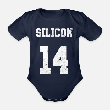 Silicone silicon element t shirt - Organic Short-Sleeved Baby Bodysuit
