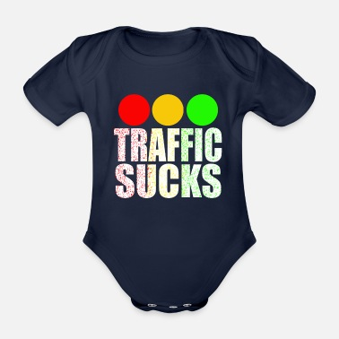 Traffic Traffic sucks - Organic Short-Sleeved Baby Bodysuit