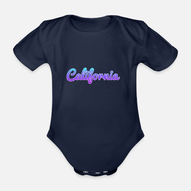 Californie Californie Californie - Body bébé bio manches courtes
