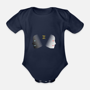 Gemini Gemini - The Gemini - Organic Short-sleeved Baby Bodysuit